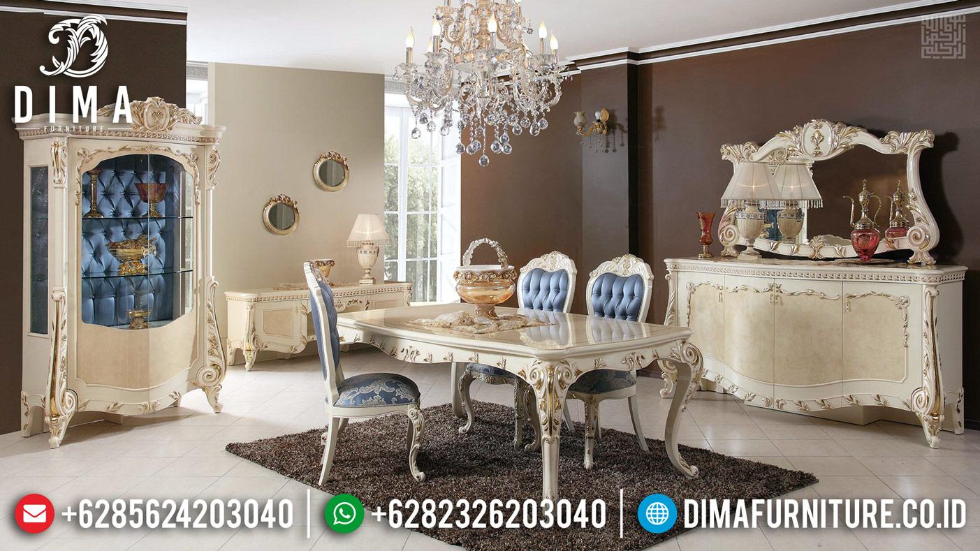 Glorious New Set Meja Makan Mewah Golden Furniture Jepara DF-1176
