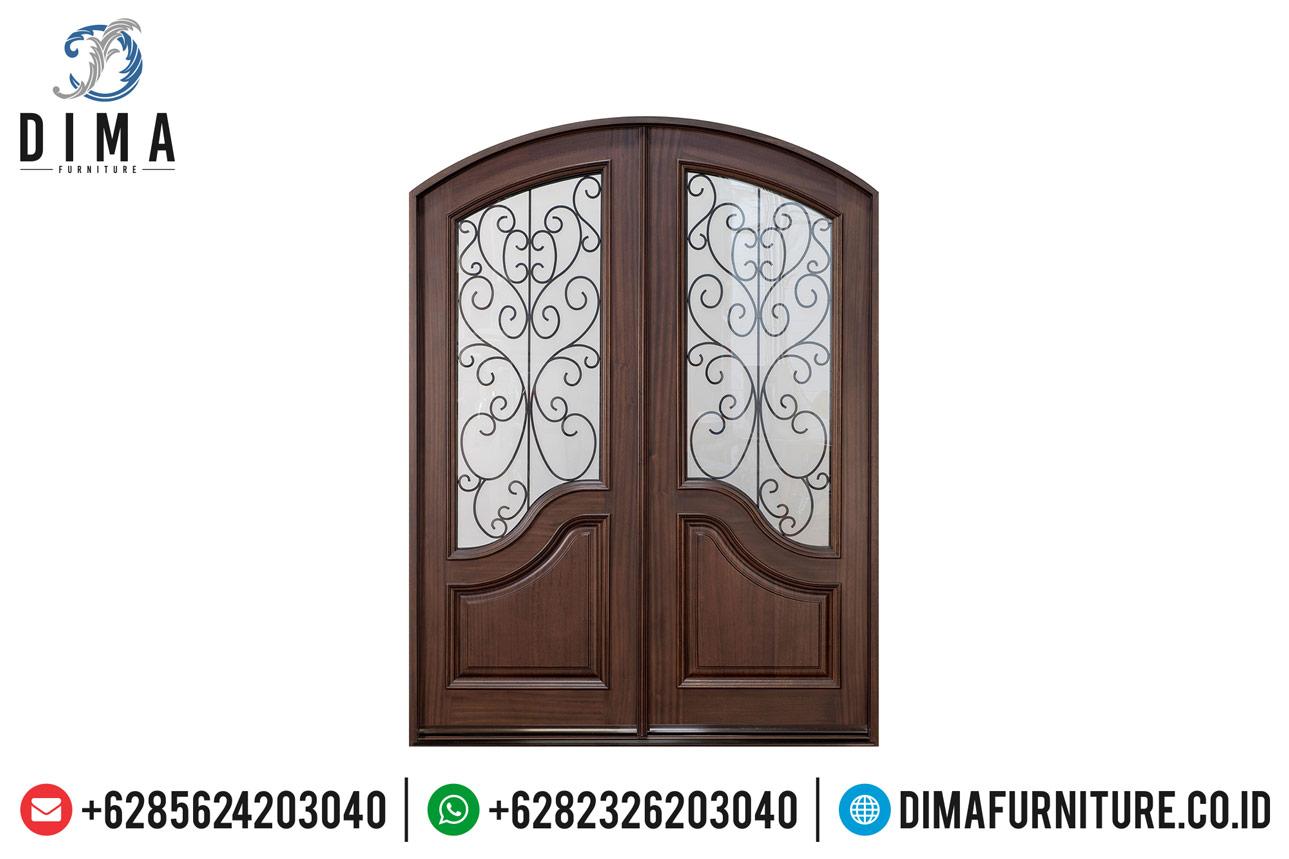 Jual Pintu Jati Jepara, Pintu Rumah Mewah, Kusen Pintu Jati Natural DF-1213