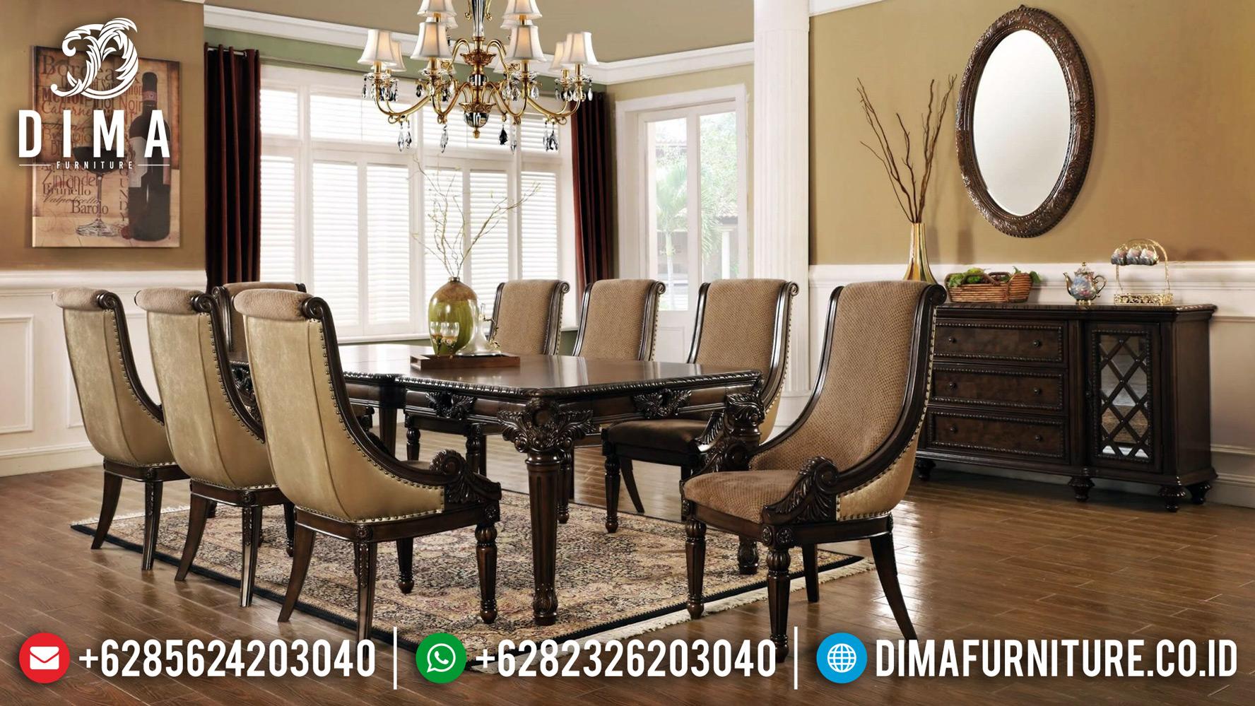 Kursi Makan Jati, Meja Makan Jepara Mewah, Furniture Jepara Terbaru DF-1203