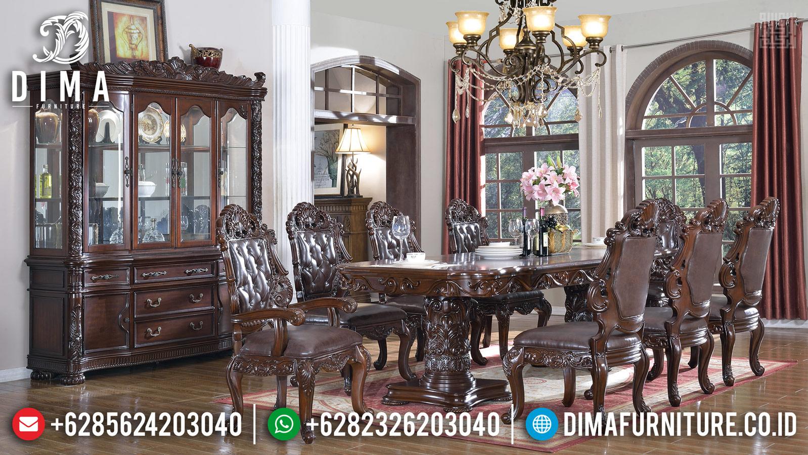 New Furniture Jepara Set Meja Makan Mewah Jati Meridian Classic DF-1183