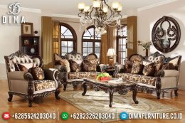 New Luxury Furniture Jepara Jati Sofa Tamu Mewah Ukiran Royal DF-1195