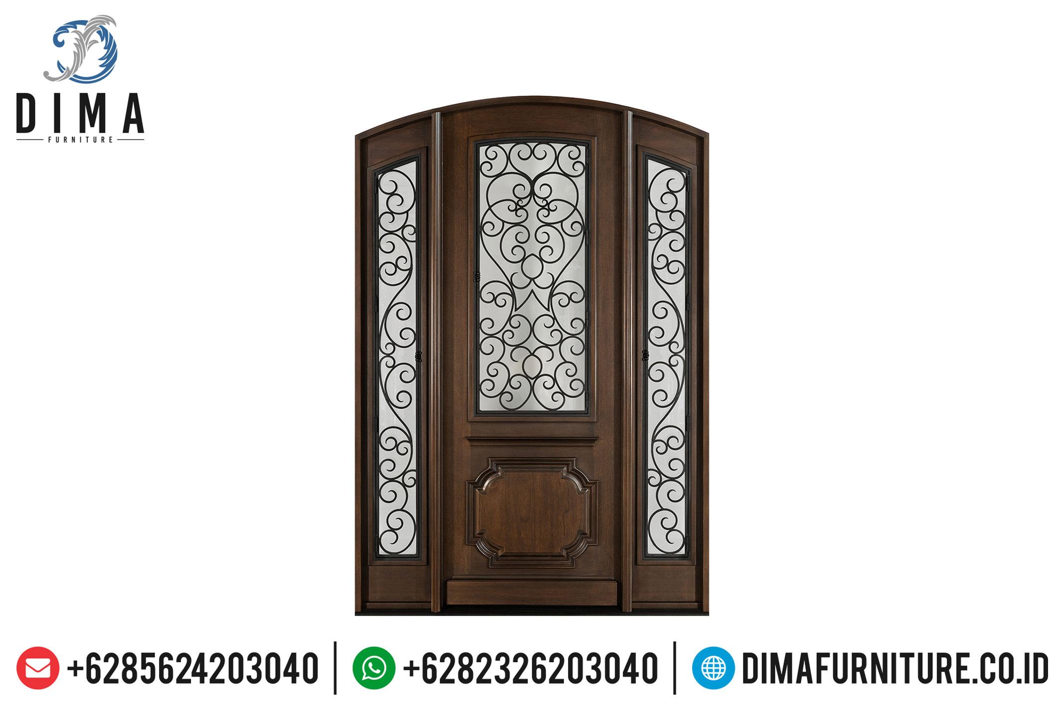 New Pintu Jati Jepara, Pintu Utama Rumah, Pintu Rumah Jati Natural DF-1212
