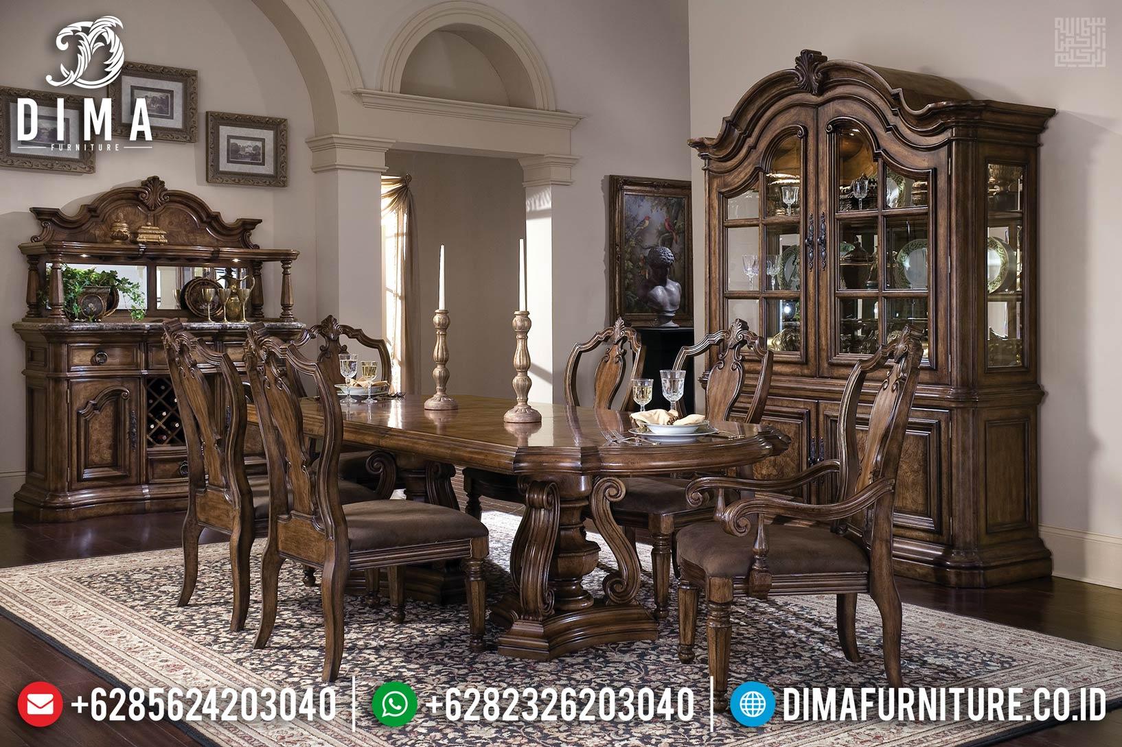 New Sale! Meja Makan Jati Furniture Jepara Natural PU DF-1185