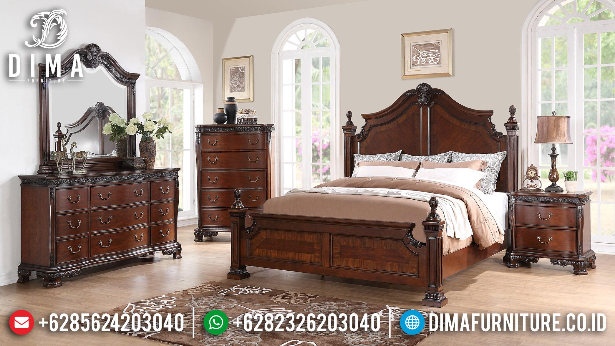 New Tempat Tidur Jati, Tempat Tidur Mewah Jepara, Furniture Jepara Classic DF-1199
