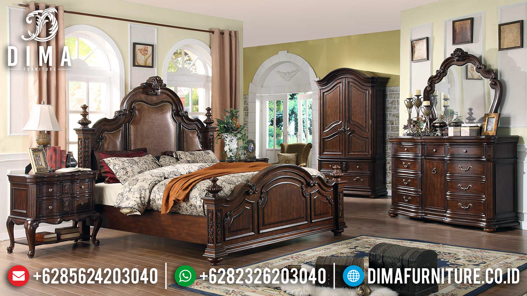 Sale Dipan Jati Jepara, New Tempat Tidur Mewah, Kamar Set Jepara DF-1198