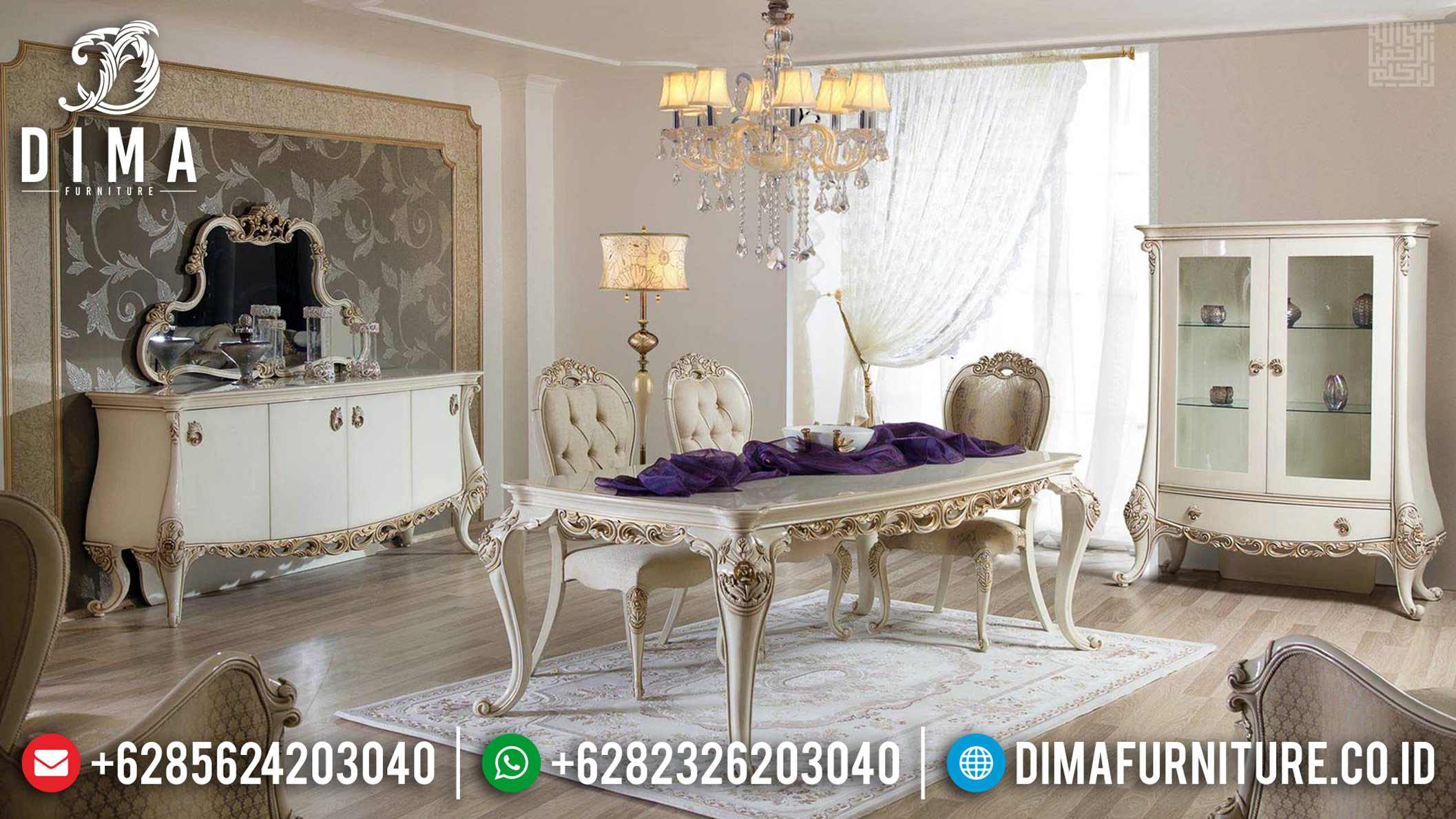 Sale Furniture Jepara Meja Makan Klasik Mewah Premiere DF-1178