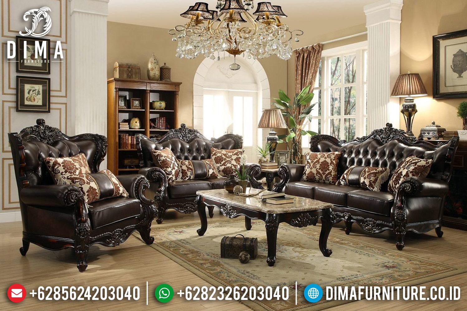 Sale New Produk Furniture Jepara Sofa Tamu Mewah Jati Natural DF-1193