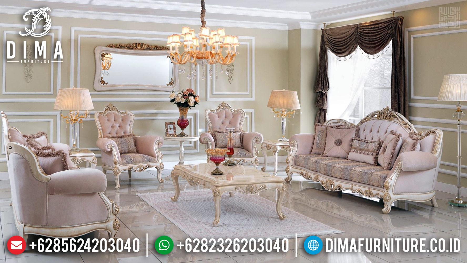 Set 3 2 1 1 Kursi Sofa Ruang Tamu Furniture Jepara Gold Duco DF-1189