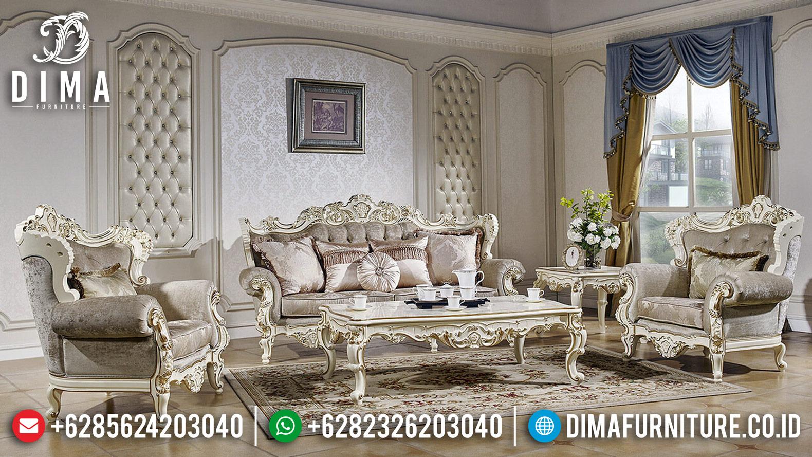 Kursi Sofa Tamu Mewah Jepara Klasik Duco Ivory Gold Tuna DF-1233