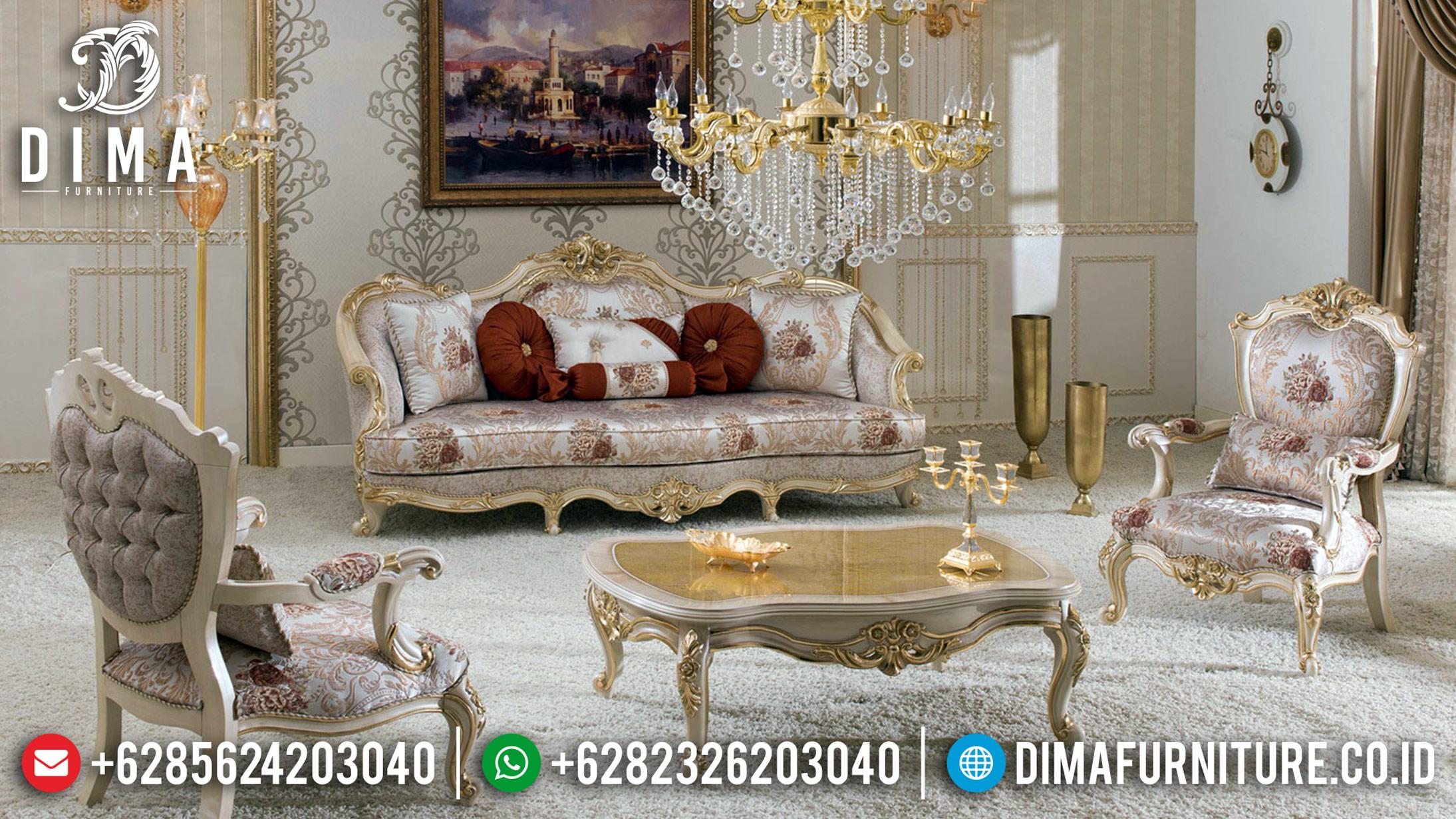 Kursi Sofa Tamu Mewah, New Sofa Mewah Classic, Kursi Tamu Jepara Gold Duco DF-1218