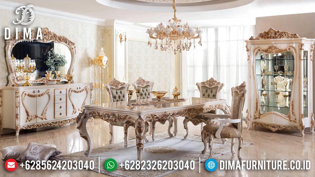 New Luxury Set Meja Makan Mewah Ukiran Furniture Jepara Classic Style DF-1222