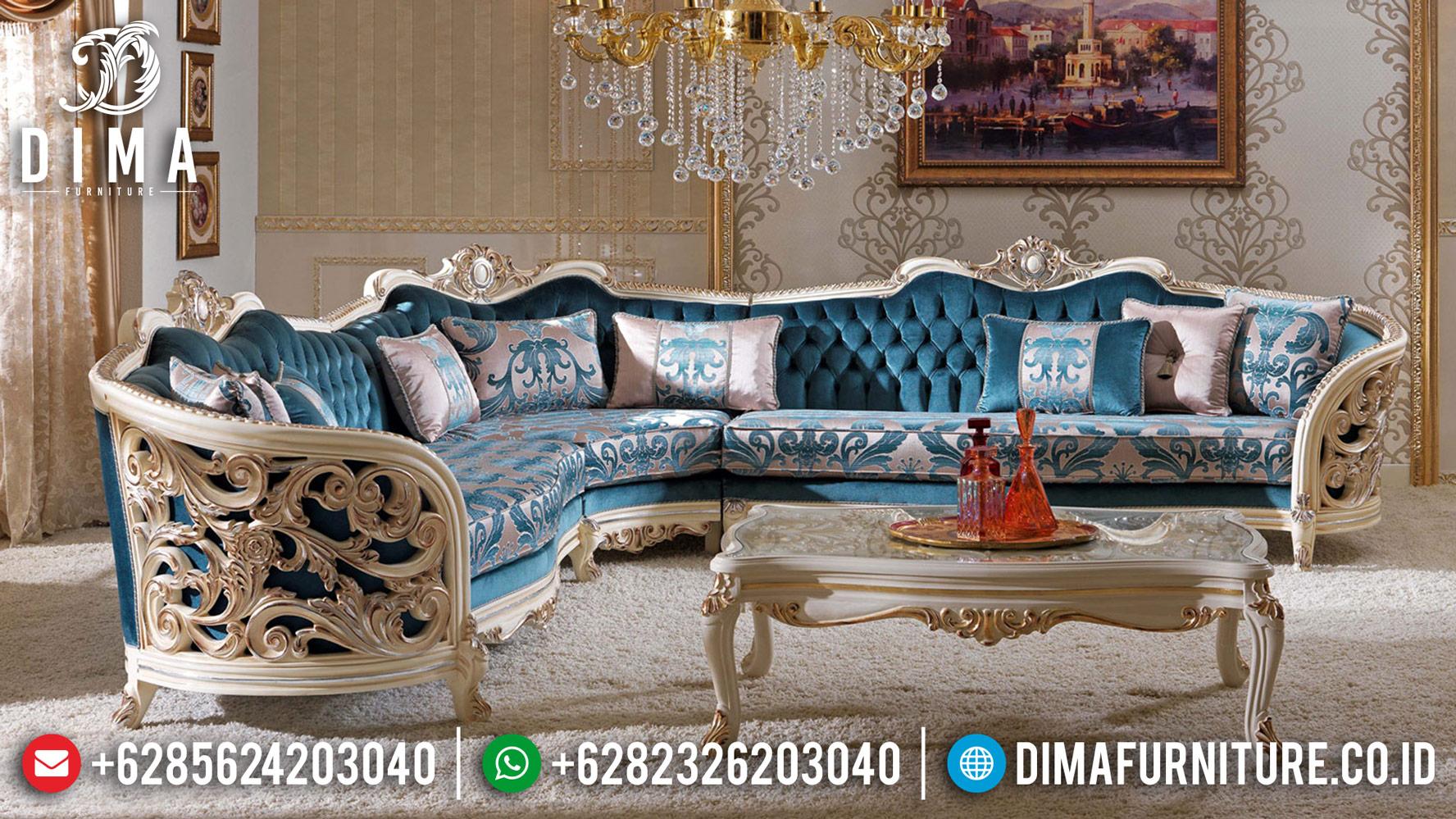 Sale New Sofa Tamu Mewah Sudut L Ukir Jepara Classic DF-1232