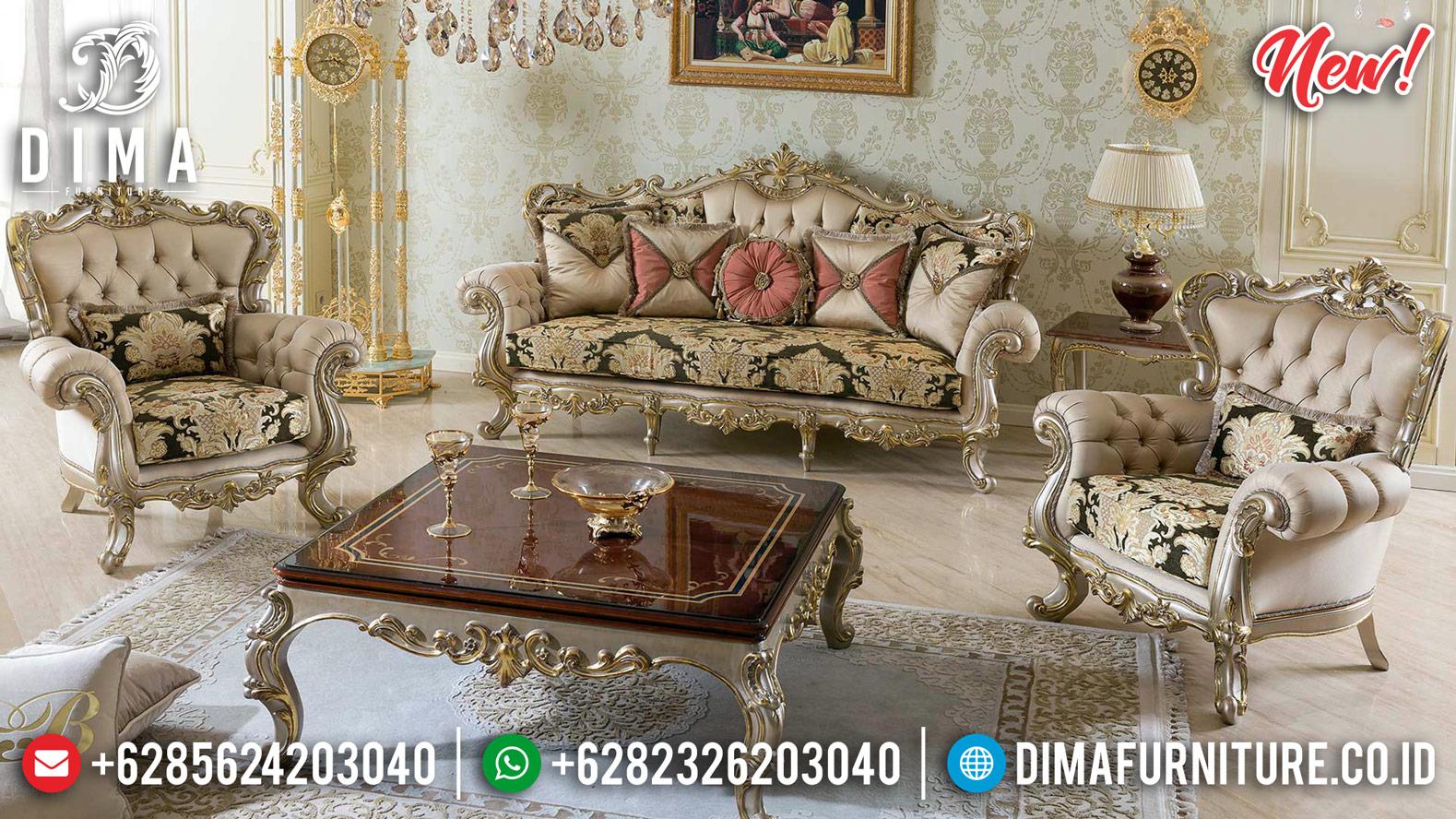 New Milano Set Kursi Sofa Tamu Mewah Jepara Silver Gold Duco DF-1250