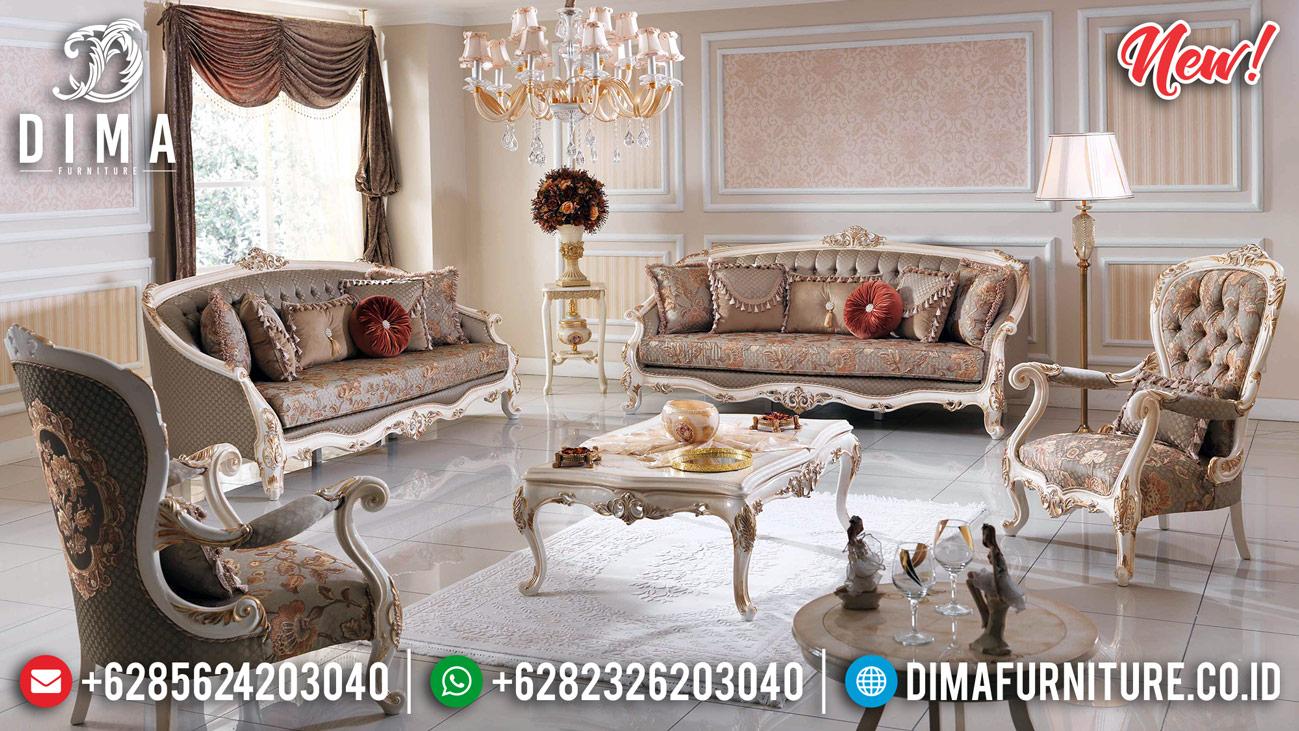 Jual Set 3 2 1 1 Sofa Tamu Jepara Mewah Klasik Ivory Gold New Venna DF-1279
