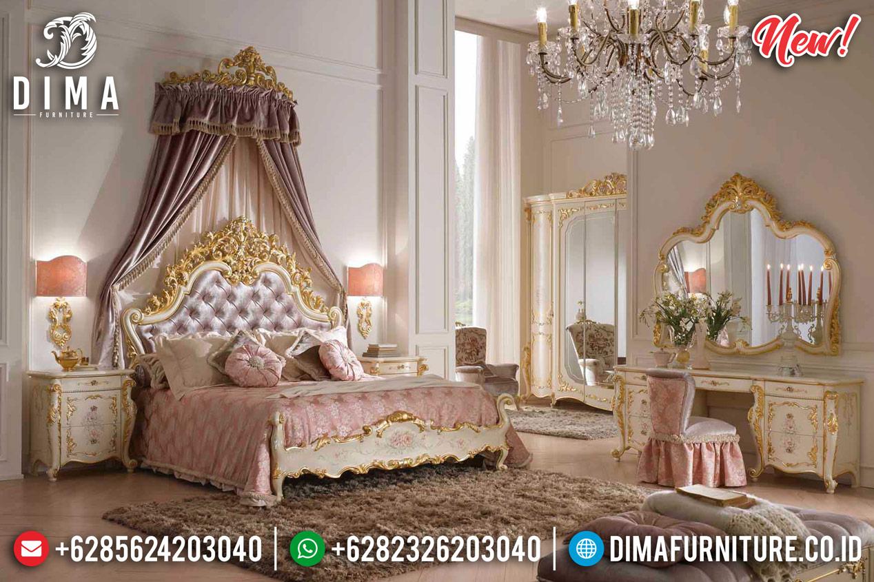 Luxurious Kamar Set Tempat Tidur Mewah Ivory Gold New Glamorous DF-1285