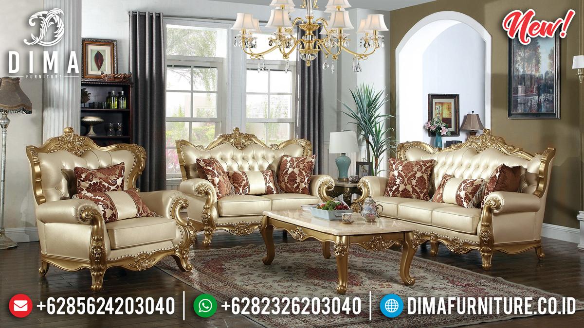 Luxury Gold Sofa Tamu Mewah Jepara Ukiran Klasik Bellalona DF-1312