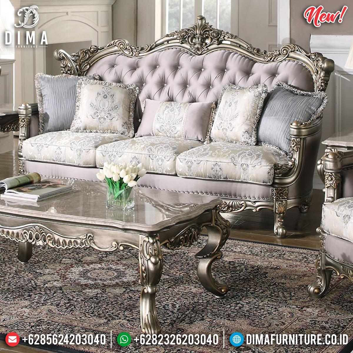 Luxury Kursi Sofa Tamu Mewah Ukiran Jepara Duco Silver DF-1307 Detail 1