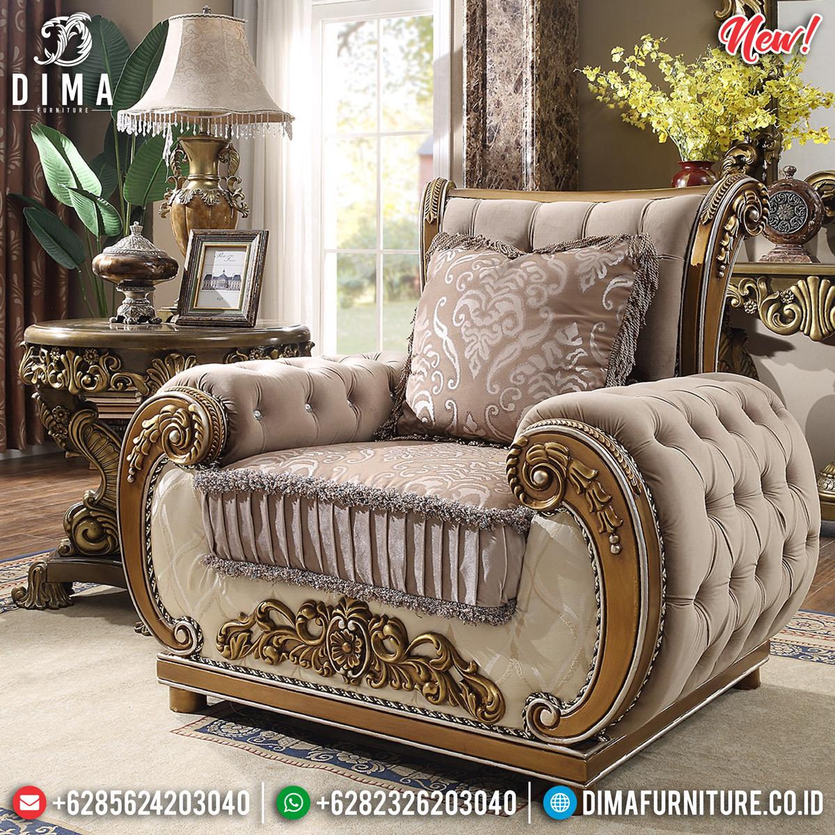 New Sofa Tamu Mewah Jepara Gold Silver Sultan DF-1300 Gambar 1