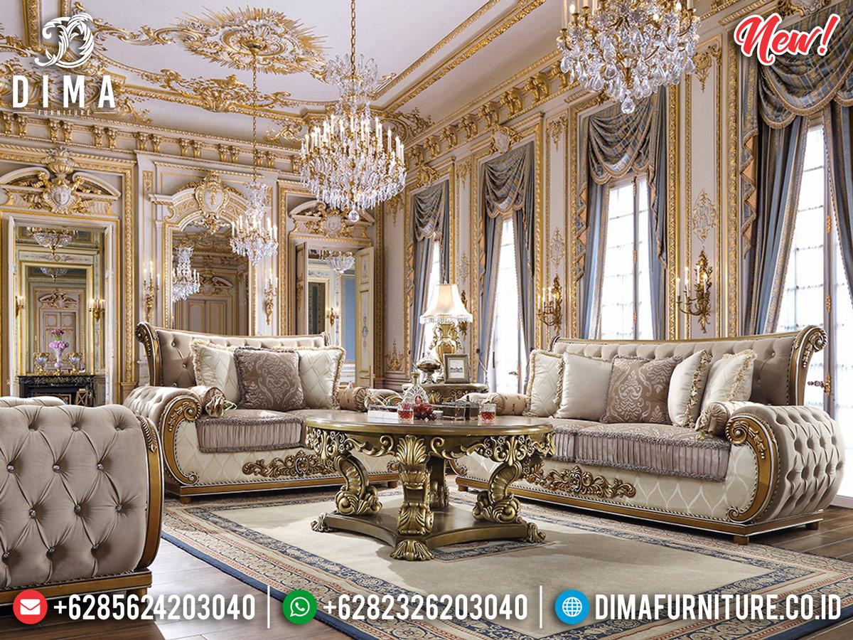 New Sofa Tamu Mewah Jepara Gold Silver Sultan DF-1300 Gambar 2