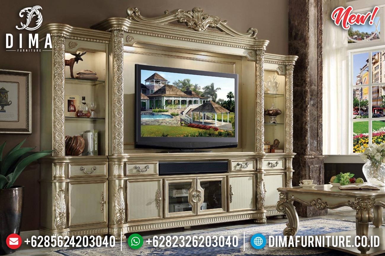 Sale New Gold Duco Bufet TV Mewah Jepara Lemari Hias Ukiran Classic DF-1268