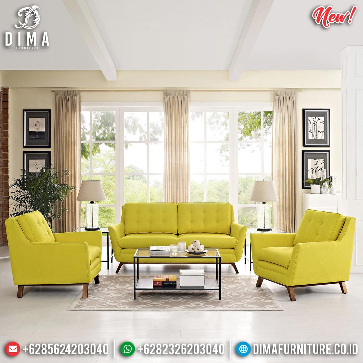 Sale Sofa Ruang Tamu Minimalis Jepara Model Terbaru Natural Jati DF-1296