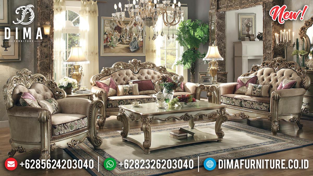 Set 3 2 1 Sofa Tamu Mewah Royal Duco Gold Ukiran Jepara Klasik DF-1314