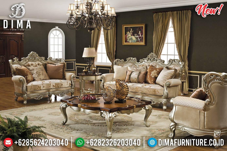 Sofa Tamu Jepara Mewah Ukir Luxury Champagne DF-1302 Gambar 2