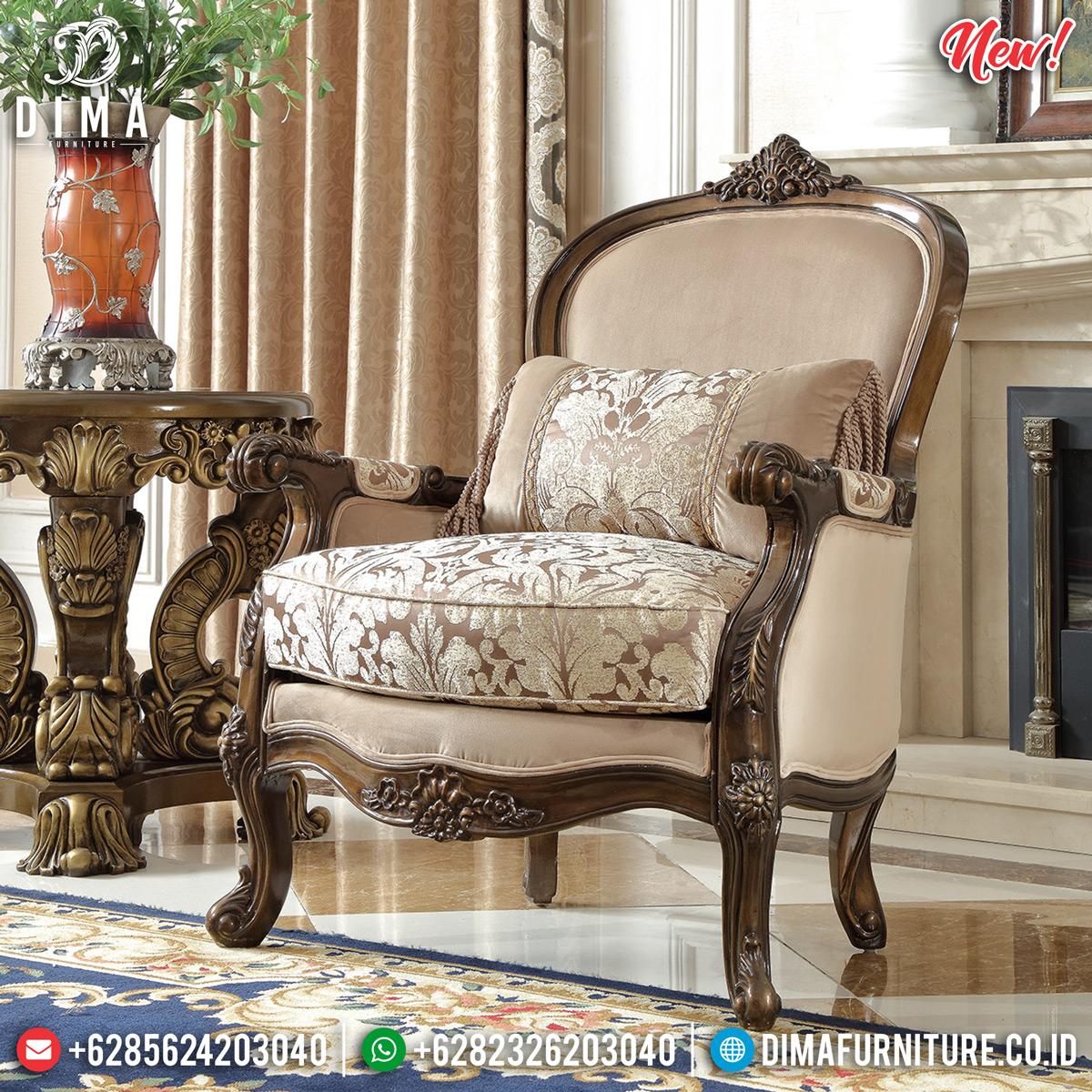 Ukiran Jepara Set Kursi Sofa Tamu Mewah Natural Jati DF-1308 Detail 1