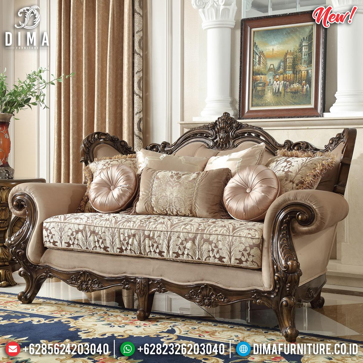Ukiran Jepara Set Kursi Sofa Tamu Mewah Natural Jati DF-1308 Detail 2