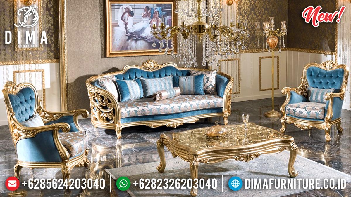 Jual Sofa Tamu Jepara Mewah Ruang Tamu Ukiran Classic Gold Leaf DF-1320