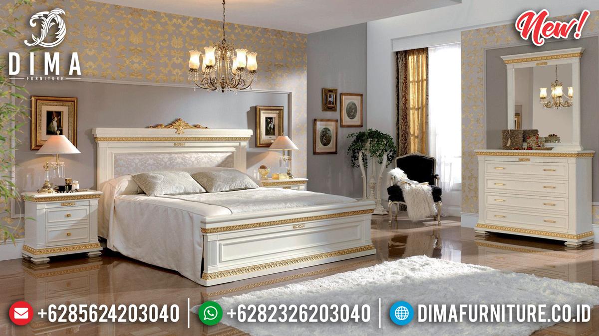 Diskon Kamar Set Tempat Tidur Mewah Ivory Gold Ukir Jepara DF-1316