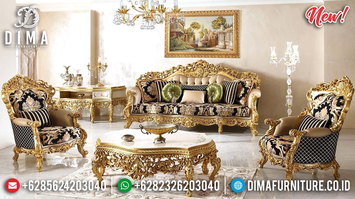 Luxury Gold Carving Sofa Tamu Jepara Mewah Sehrazat Terbaru DF-1331