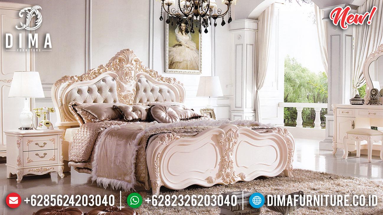 Ameli Tempat Tidur Mewah Duco Luxury Broken White DF-1342