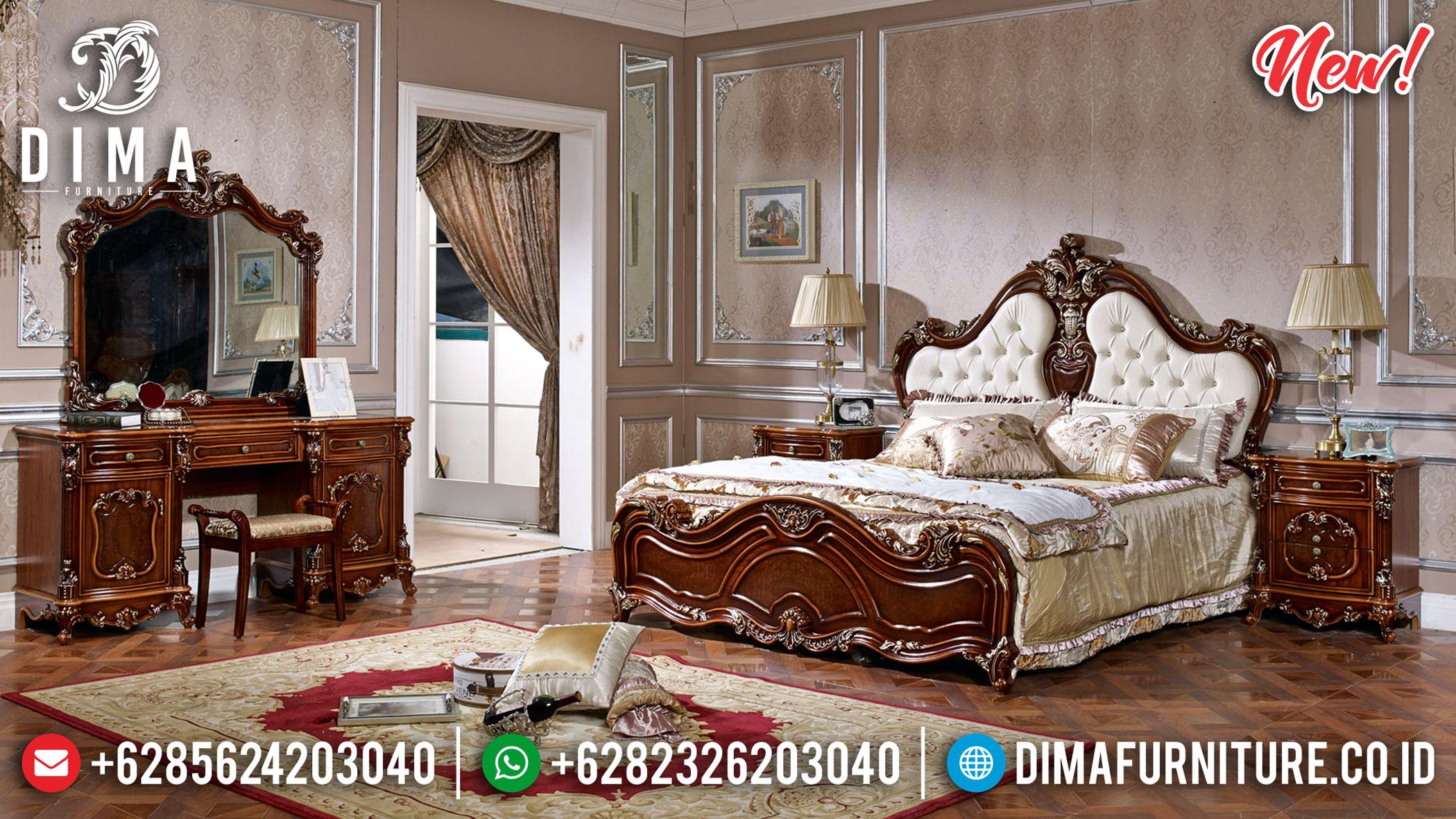 Exclusive Set Tempat Tidur Mewah Jati Jepara Elegant Natural DF-1352