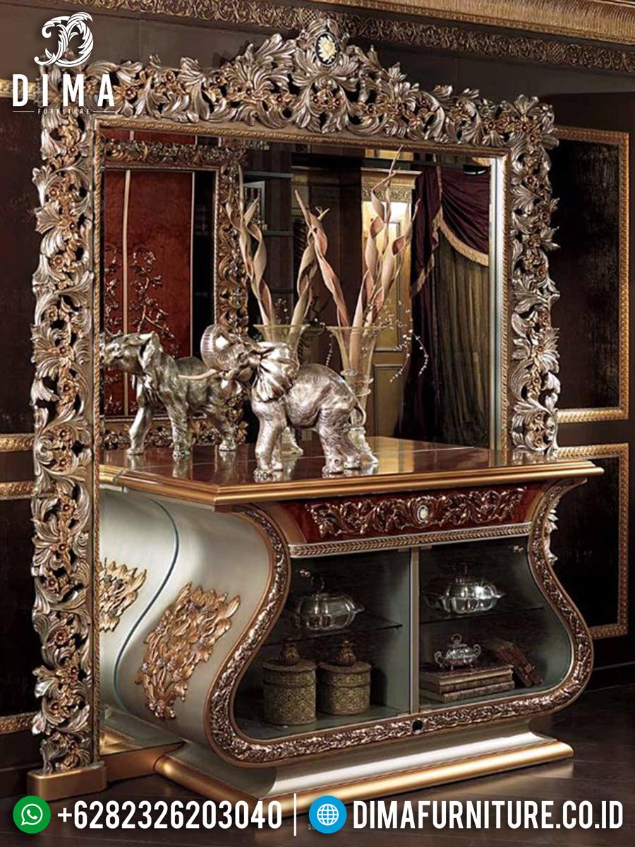 Luxurious New Meja Konsol Mewah Ukir Jepara Golden Biola DF-1355
