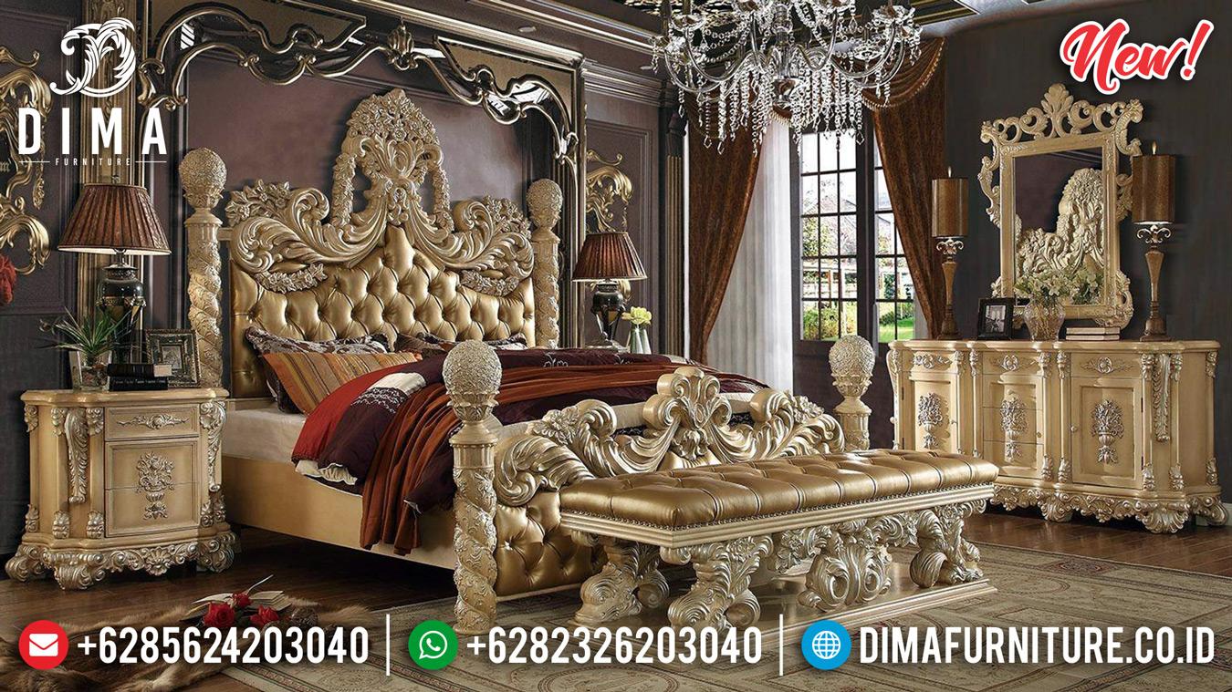 New Kamar Set Mewah Tempat Tidur Jepara Sultan Ivory Silver Prada DF-1339