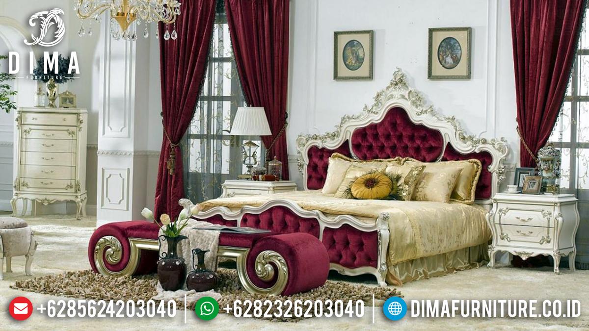 Royals Luxury Tempat Tidur Mewah Jepara White Gold Dayana DF-1348