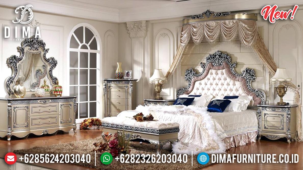 Sale Set Kamar Tempat Tidur Jepara Mewah Crown Deluxe DF-1354