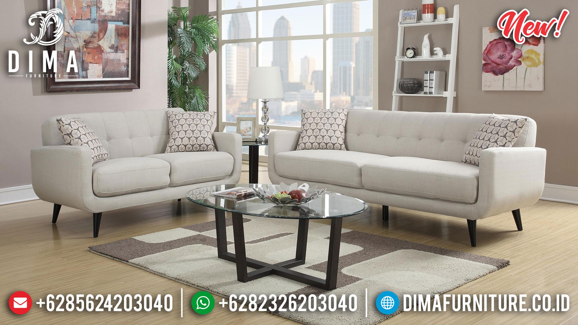 New Sofa Tamu Minimalis Jepara Set 3 2 Meja Terbaru Olivia DF-1363