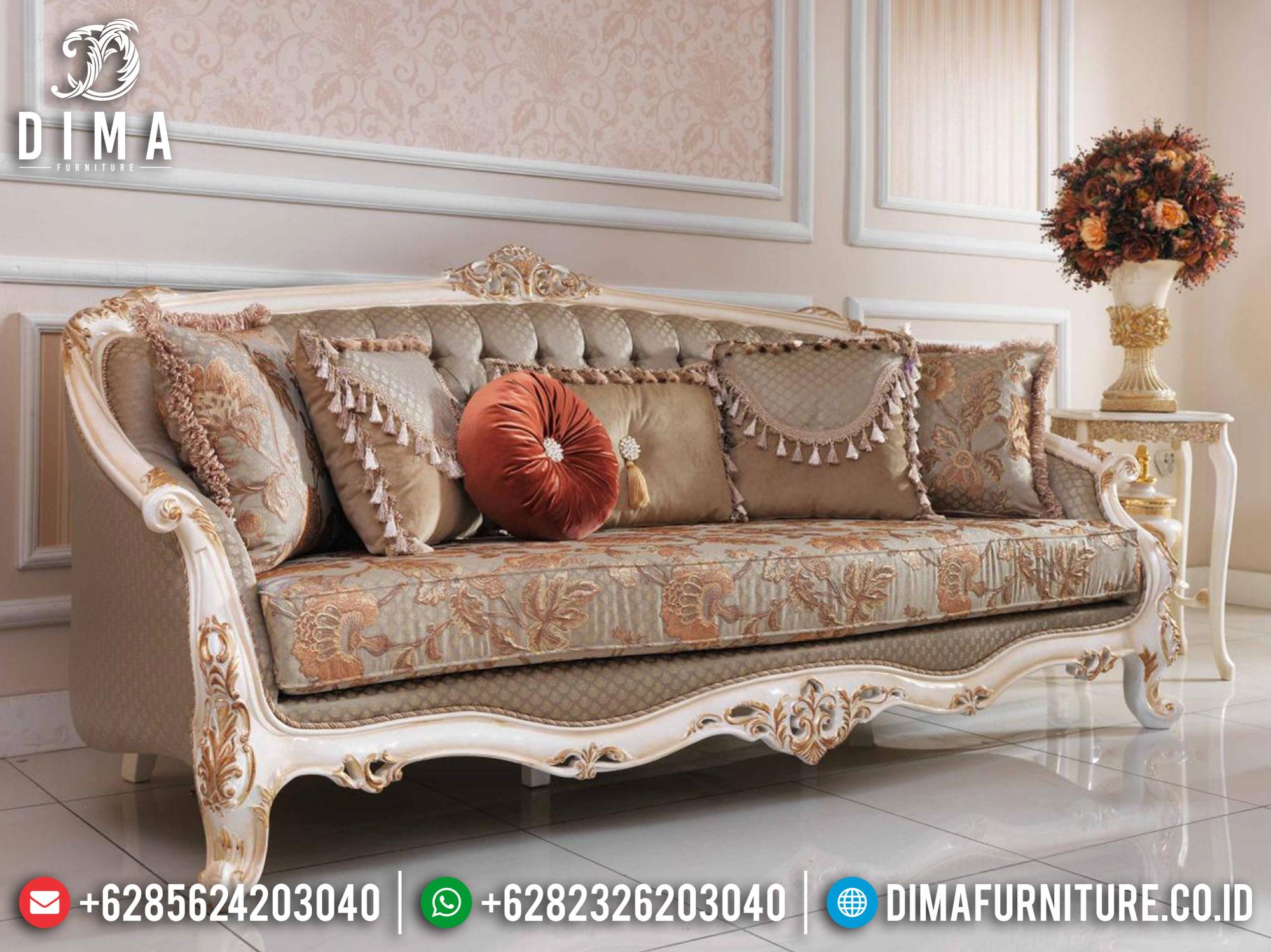 Set Sofa Tamu Mewah Ukiran Jepara Ivory Gold Mila 2021 DF-1371