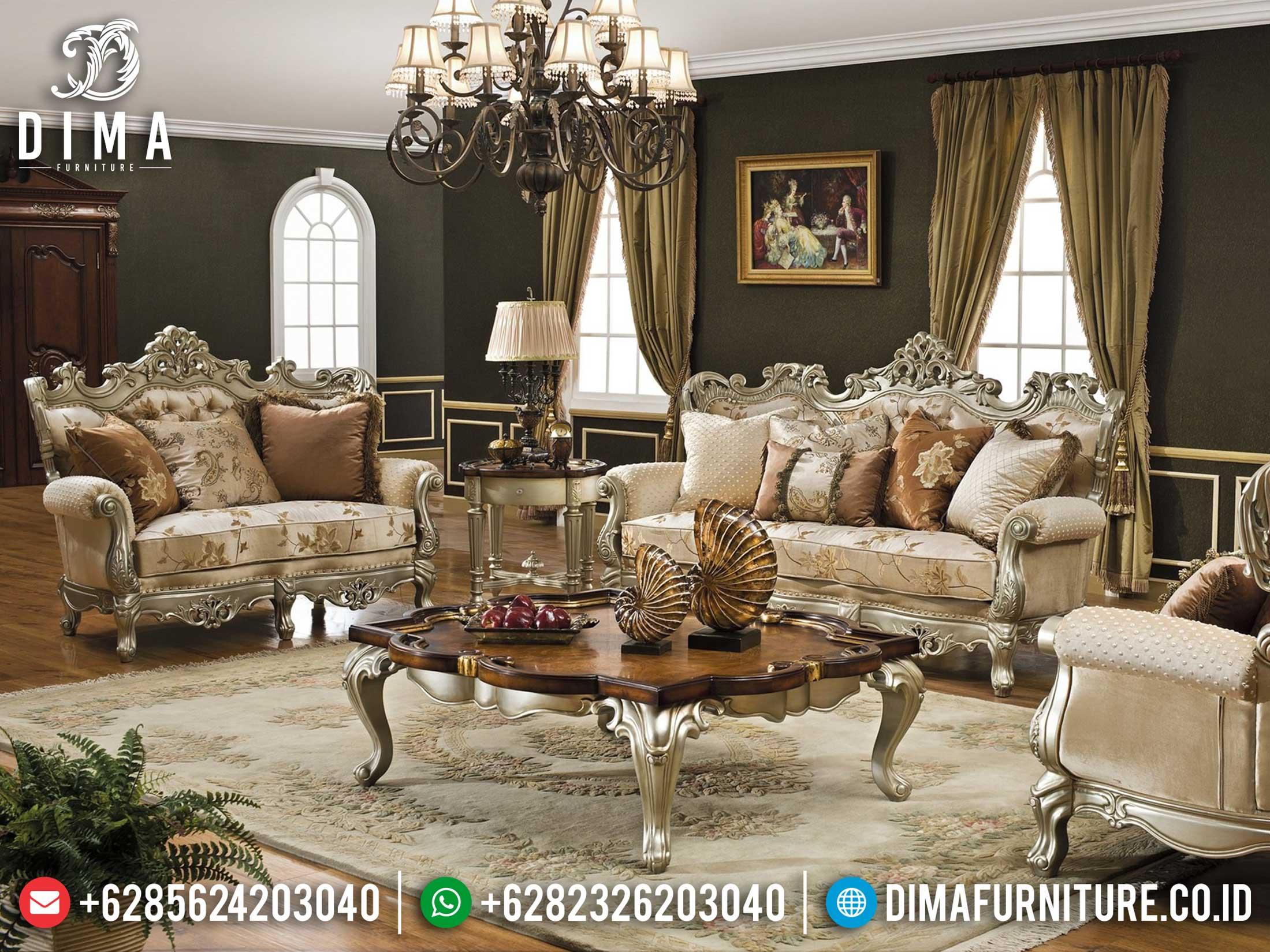 Sofa Tamu Mewah Caesar Duco Silver Terbaru 2021 DF-1370