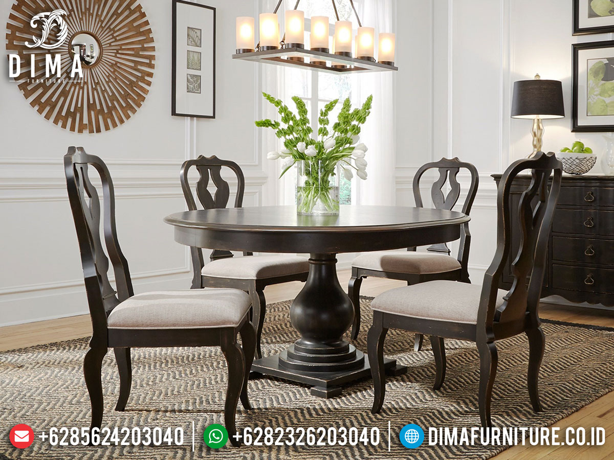 Meja Makan Minimalis 4 Kursi Jati Natural Jepara Best Sale 2021 DF-1393