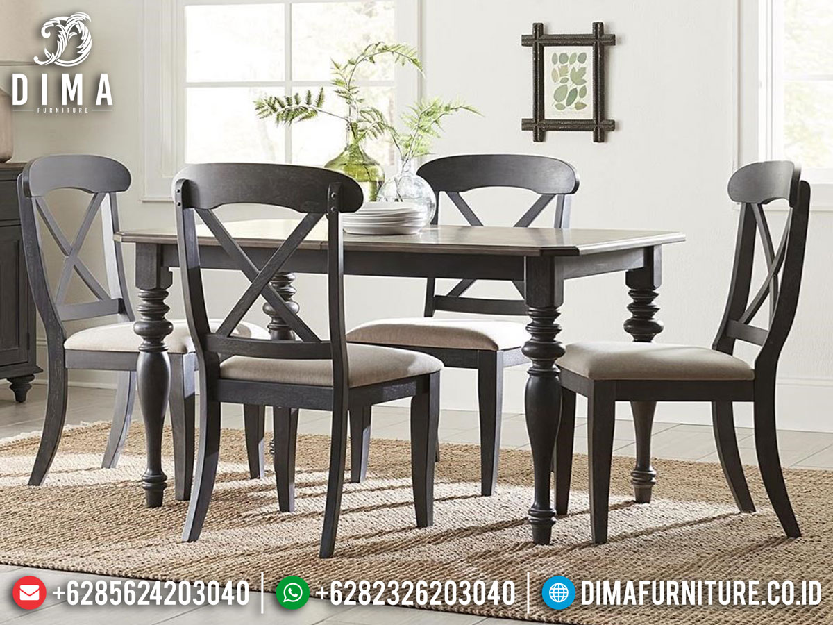 Set Meja Makan Minimalis Simple Dining Room Concept New Furniture Jepara DF-1384