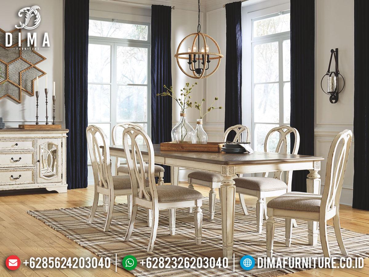Dining Room Set Meja Makan Minimalis Jepara Classic New Design Inspiring DF-1399