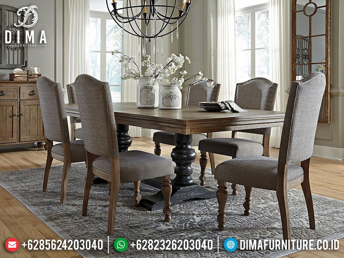 Harga Meja Makan Minimalis Jati Natural Color Furniture Jepara Terbaru DF-1396