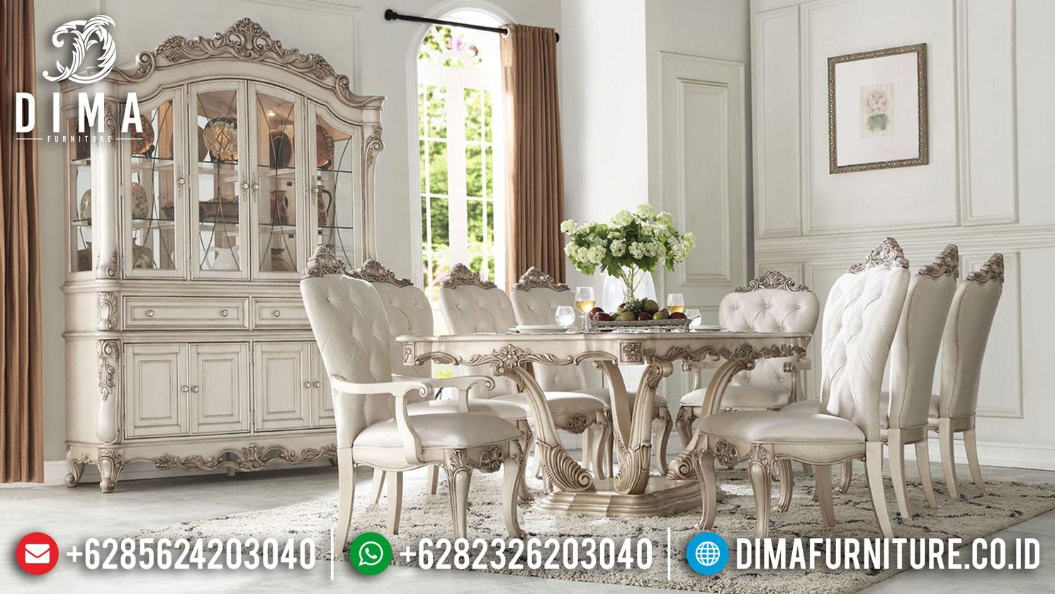 Model Meja Makan Mewah Ukiran Jepara Luxury Style New Update DF-1407