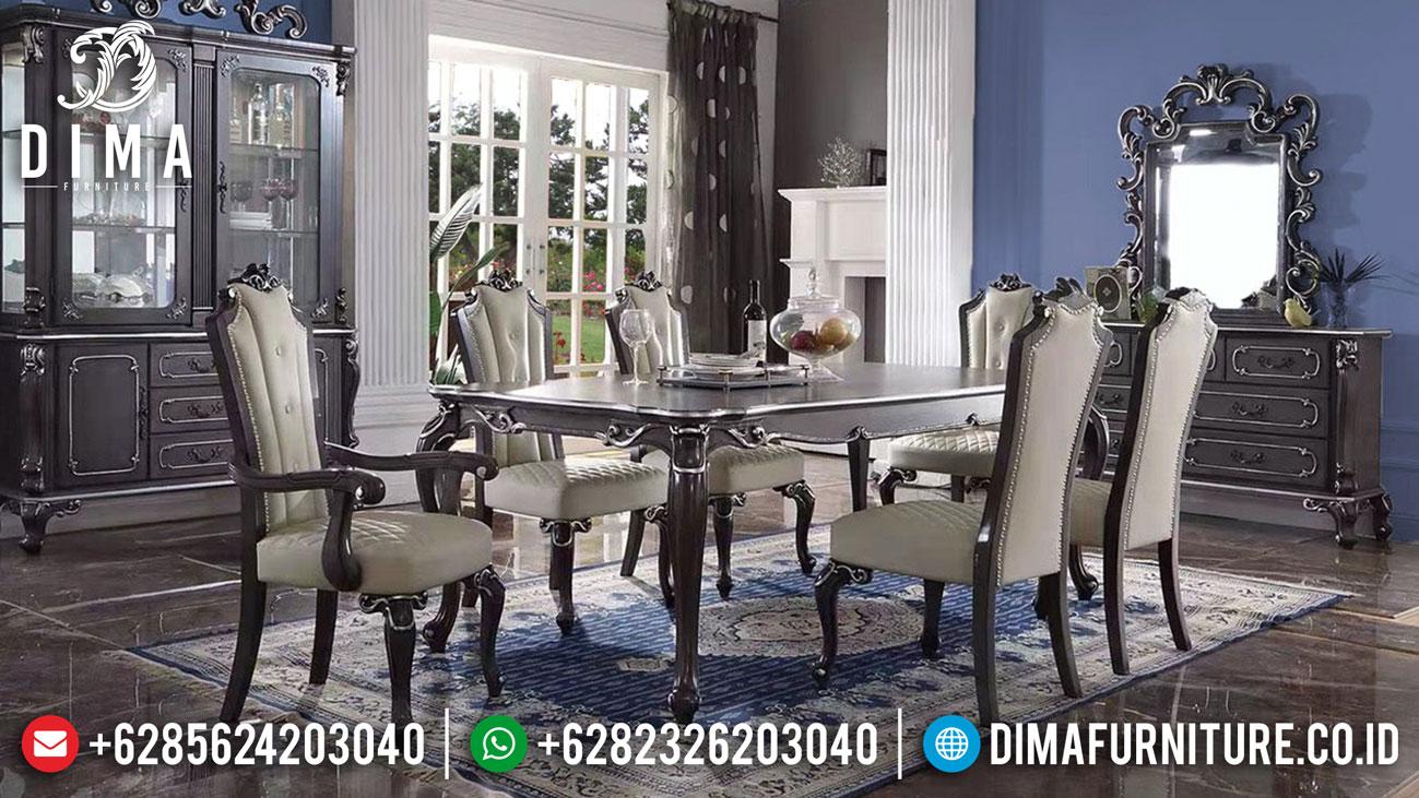 New Meja Makan Mewah Minimalis Black Edition Dining Room Sets Inspiring DF-1414