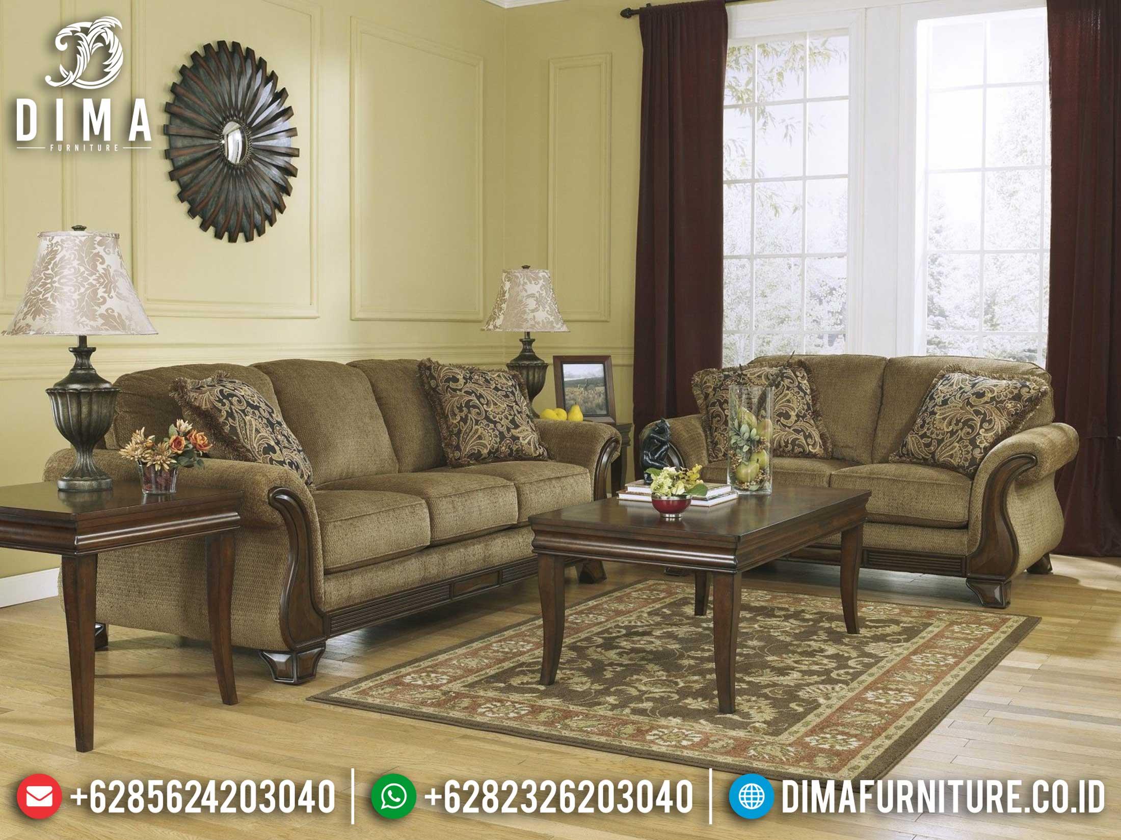 On Sale Set Kursi Sofa Tamu Jepara Natural Anjamani DF-1417