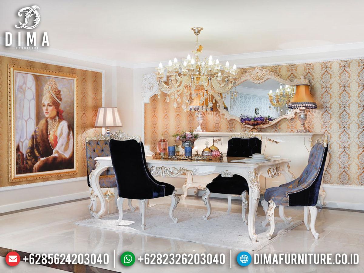 Set Meja Makan Mewah Ukiran Luxury Classic Art Deco Furniture Jepara DF-1406