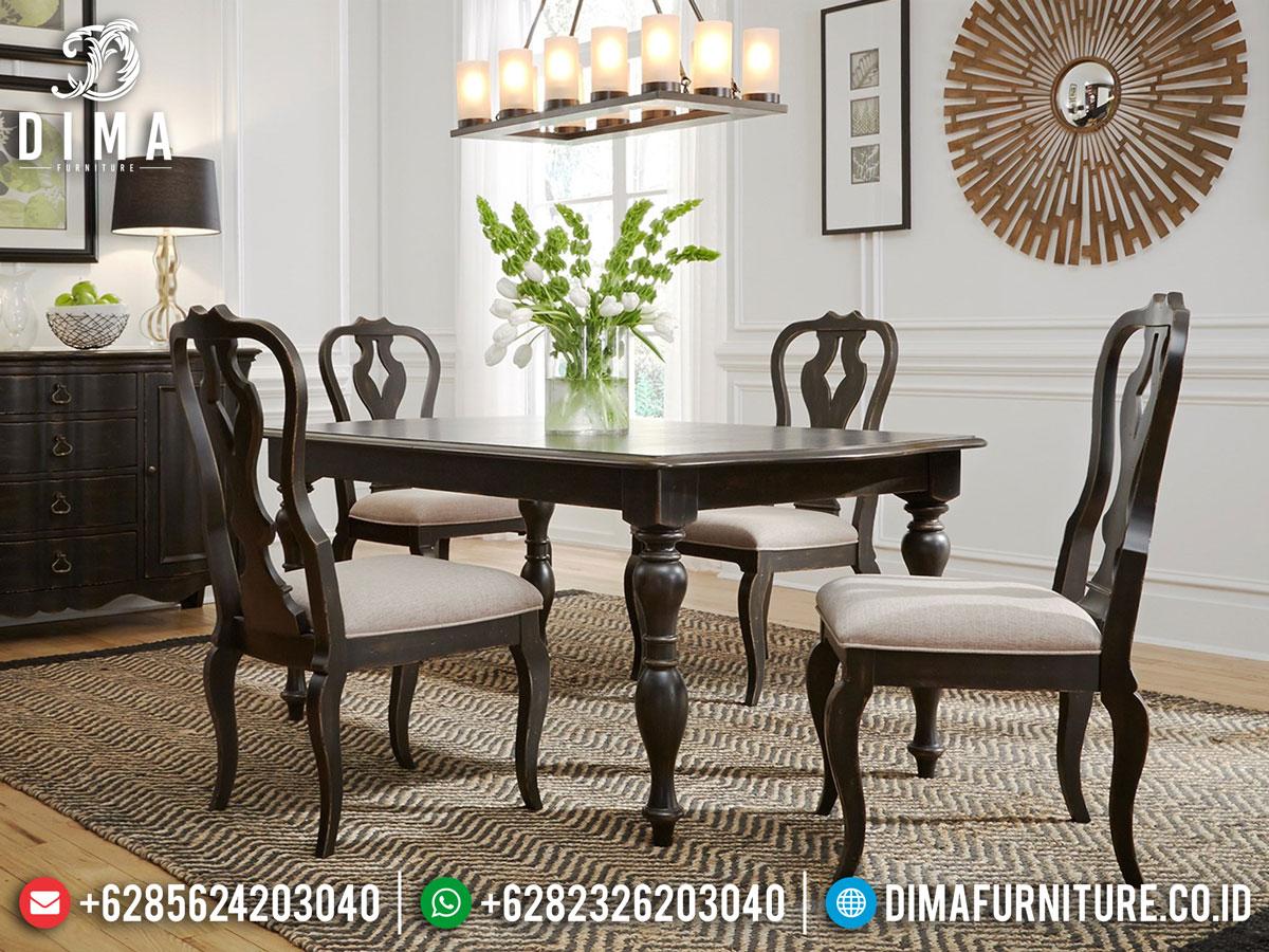 Set Meja Makan Minimalis 4 Kursi Terbaru New Design Majestic Style DF-1397